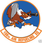 STICKER USAF 108TH AIR REFUELING SQUADRON