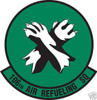 STICKER USAF 106TH AIR REFUELING SQUADRON