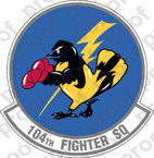 STICKER USAF 104TH FIGHTER SQUADRON B