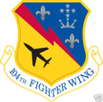 STICKER USAF 104TH FIGHTER WING
