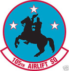 STICKER USAF 105TH AIRLIFT SQUADRON