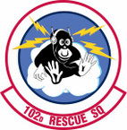 STICKER USAF 102nd Rescue Squadron
