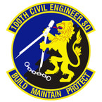 STICKER USAF 100TH CIVIL ENGINEER SQ
