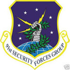 STICKER USAF  91ST SECURITY FORCES GROUP