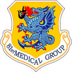 STICKER USAF  81st MEDICAL GROUP