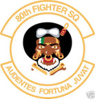 STICKER USAF  80TH FIGHTER SQUADRON