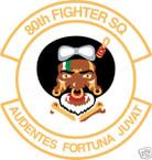 STICKER USAF  80TH FIGHTER SQUADRON