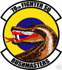 STICKER USAF  78TH FIGHTER SQUADRON DECAL