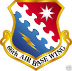 STICKER USAF  66TH AIRBASE WING