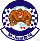 STICKER USAF  58TH FIGHTER SQUADRON DECAL