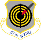 STICKER USAF  57TH FIGHTER WING DECAL