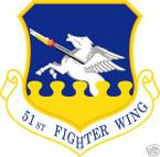 STICKER USAF  51ST FIGHTER WING