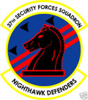 STICKER USAF  37TH SECURITY FORCES SQUADRON