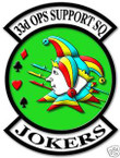 STICKER USAF  33RD OPERATION AND SUPPORT SQUADRON