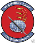 STICKER USAF  33RD MAINTENANCE SQUADRON