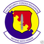STICKER USAF  31ST SECURITY FORCES SQUADRON