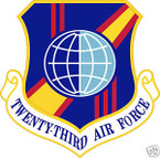 STICKER USAF  23RD AIR FORCE