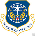 STICKER USAF  20th AIR FORCE