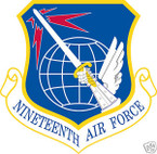STICKER USAF  19TH AIR FORCE