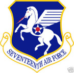 STICKER USAF  17TH AIR FORCE