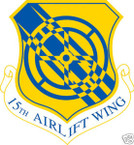 STICKER USAF  15TH AIRLIFT WING