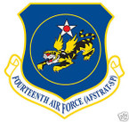 STICKER USAF  14TH AIR FORCE