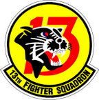 STICKER USAF  13TH FIGHTER SQUADRON