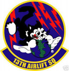 STICKER USAF  13TH AIRLIFT SQUADRON C-141