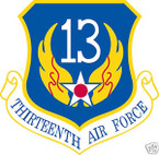 STICKER USAF  13TH AIR FORCE