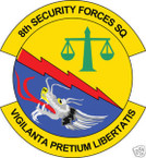 STICKER USAF   8TH SECURITY FORCES SQUADRON