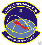 STICKER USAF   2ND SPACE OPERATIONS SQUADRON