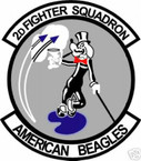 STICKER USAF   2ND FIGHTER SQUADRON F-15 EAGLE