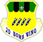 STICKER USAF   2nd Bomb Wing