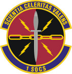 STICKER USAF   1st SOCS