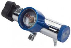 Meret Magnum Solid Brass Oxygen Regulator - 0-25 LPM (2 DISS / 1 Barb)