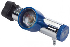Meret Magnum Solid Brass Oxygen Regulator - 0-25 LPM (0 DISS / 1 Barb)