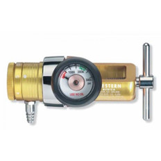 Aluminum Oxygen Regulator - 0-25 LPM (1 Barb) - Western