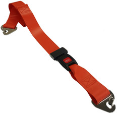 Impervious 2 pc. Metal Buckle & Non-Swivel Clip Spineboard Strap - 7'