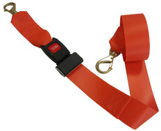 Impervious 2 pc. Metal Buckle & Brass Speed Clip Spineboard Strap - 5'