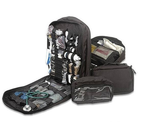 Military STOMP Medical First Aid Backpack - Full Kit