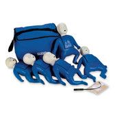CPR Prompt 5 Pack Infant Training and Practice Manikin - Blue