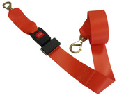 Impervious 2 pc. Metal Buckle & Brass Speed Clip Spineboard Strap - 7'