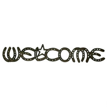Western Cast Iron Welcome Horseshoe Wall Plaque