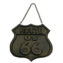 Cast Iron Route 66 Wall Plaque