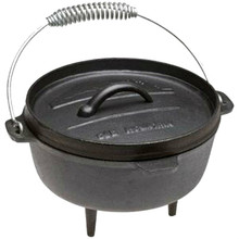 Old Mountain Cast Iron 2 Qt Dutch Oven with Lid and Feet 166-10113