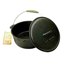 Old Mountain Cast Iron 4 1/2 Qt Dutch Oven with Lid and Feet