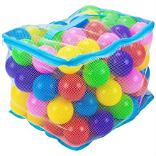 "Imagination Generation 100 Multi Colored 3"" Soft Pit Balls in Mesh Bag TBPT-101"