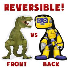 T-Rex vs Rad Robot 48 Piece 3' x 2' Double Sided Floor Puzzle Age 6+ TPUZ-201
