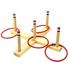 Midway Monsters Wood Indoor Outdoor Five Peg Ring Toss Game GCVL-901
