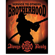 Firefighters Brotherhood Tin Sign